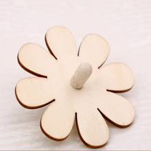 Hot sale handmade spinning top toys popular kid's custom mini wooden spinning top