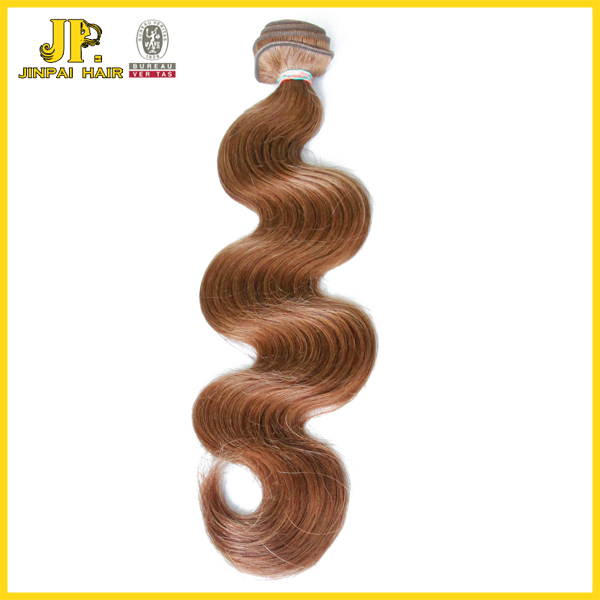 JP hair colour 6 virgin brazilian body wave 100 gram of brazilian hair