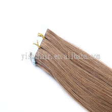 color blond high quality glue strong human hair extension tape in hair