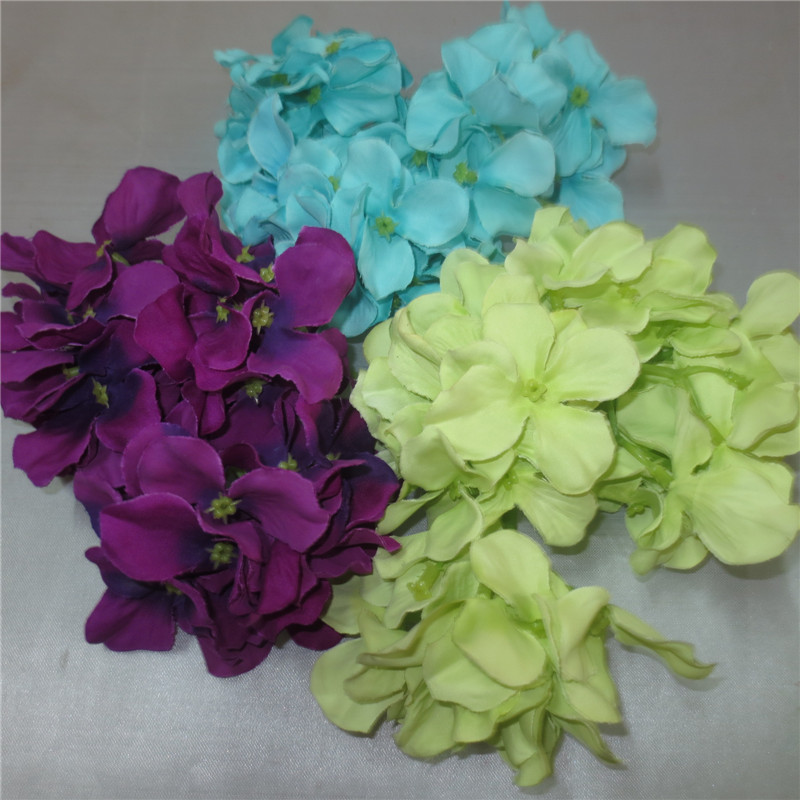 4 forks 15cm Hydrangea paper flowers wholesale large artificial flower heads flower hair accessories
