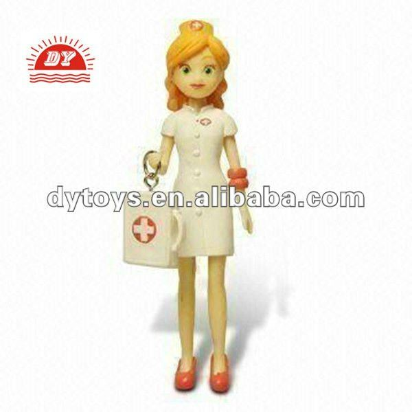 3d pvc nurse figure vinyl toy for kids