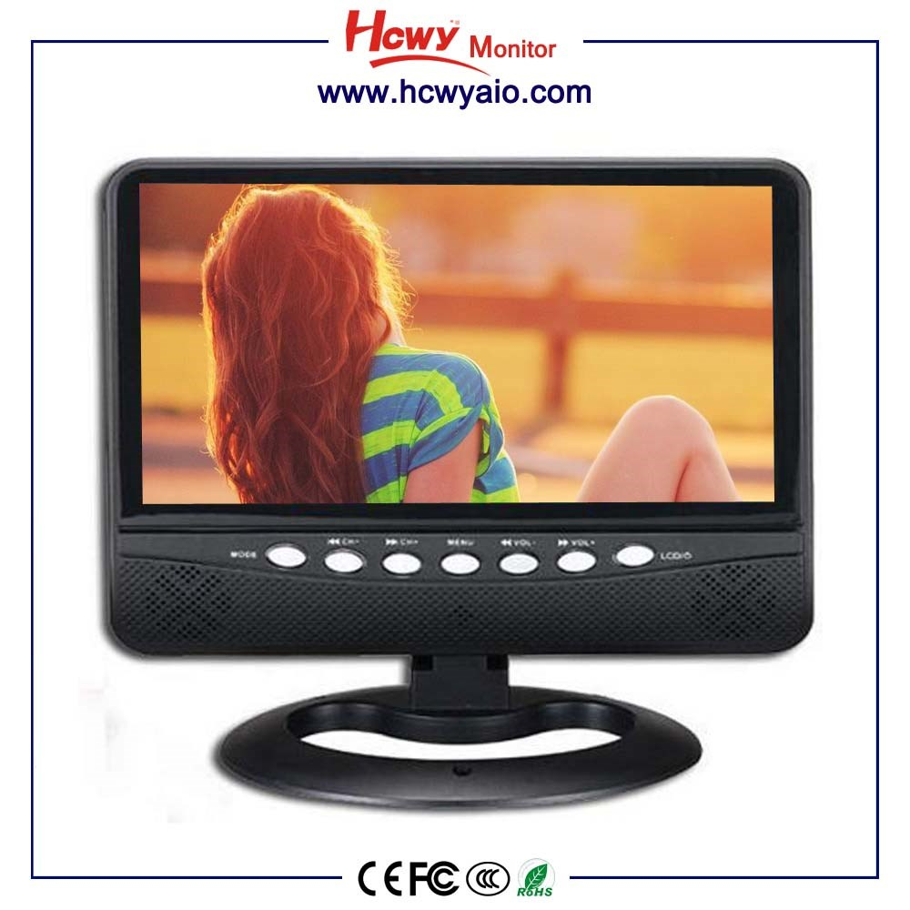 9 inch portable dvd player with color digital tv 9inch wide lcd screen mini TFT LED TV With AV TV USB SD Slot