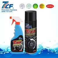 650ml Tire Foam Cleaner Car Tyre Shine Spray