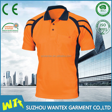 Cheap wholesale safety work polo shirt fluo orange unisex t shirt sport