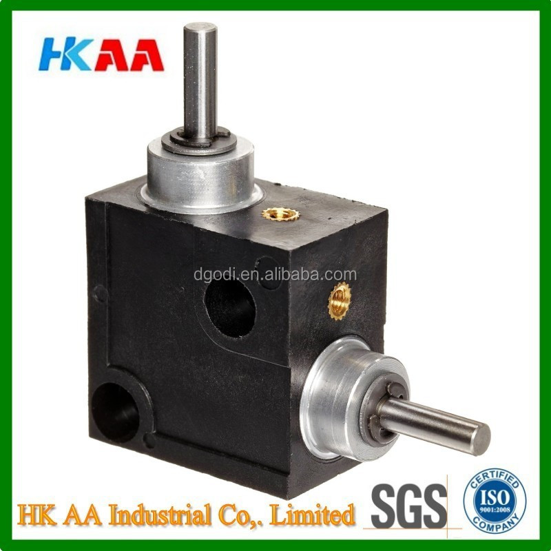 Custom design precision iniature right angle gearbox, acetal right angle gearbox