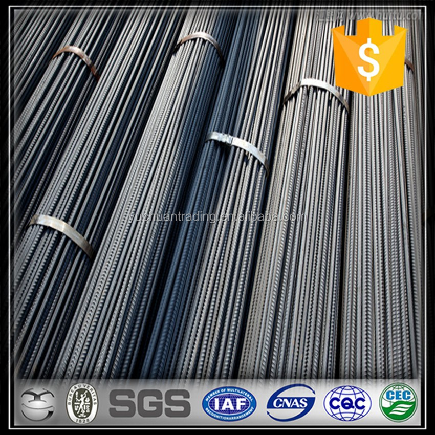 Dia 12mm -16mm steel rebar, deformed steel bar, iron rods for construction/concrete/building