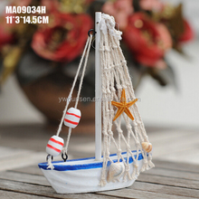 wholesale popular model decorative wooden sailing boat
