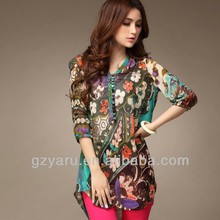 new style blouse trendy women screen printing