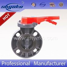 2016 china supplier new products plastic pvc pn25 tomoe butterfly valve