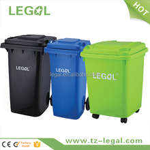 240l plastic waste bin stacking rubbish bin with foot pedal