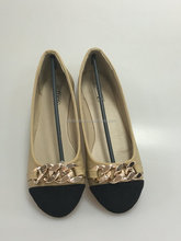 Round toe Chain pump for lady