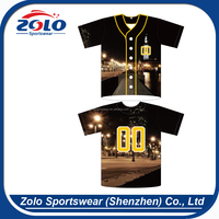 New Style Fully Dye Sublimation Professional Baseball Jersey And Baseball Uniforms