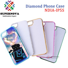 Sublimation Diamond Case for iPhone 5 5s, Custom Printable Mobile Cover
