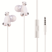 Hot Selling On Ebay Amazon Hands-free Cute Cartoon 3D Animal Earphone For Child Kids