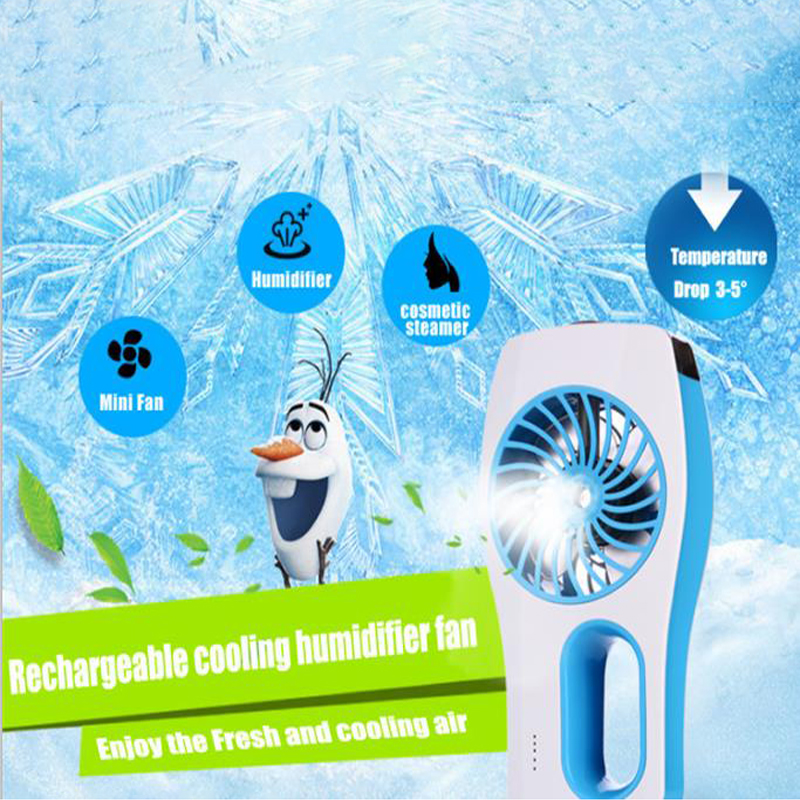 Mini Rechargeable Handheld Portable Outdoor Air Cooler Water Mist Fan