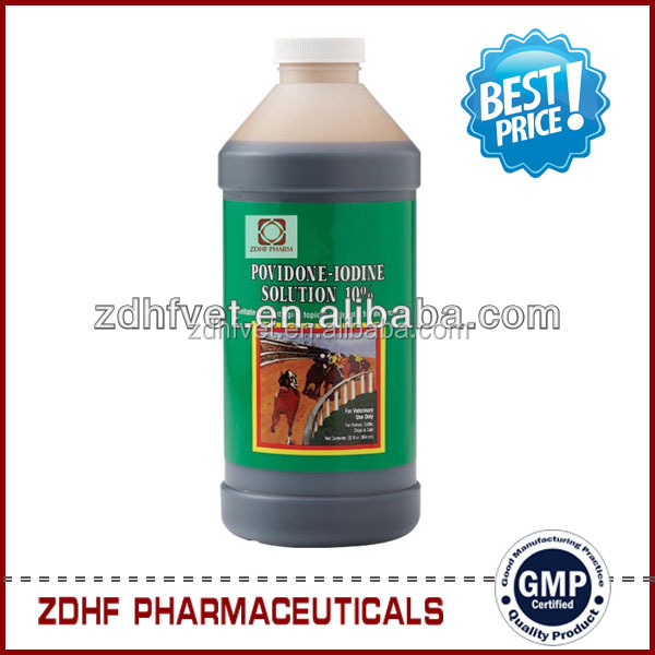 Manufacturers of 20 Povidon Iodine solution / povidone iodine 5% for farming in Veterinary medicine
