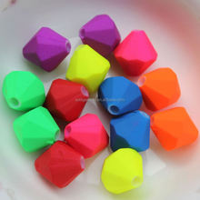 Lovely 8MM Faceted Tapered Colored Spacer Beads