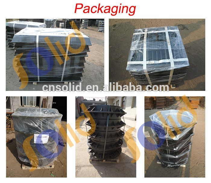 B125 300mm 600mm,900mm dia oem EN124 light duty ductile iron manhole covers&frame