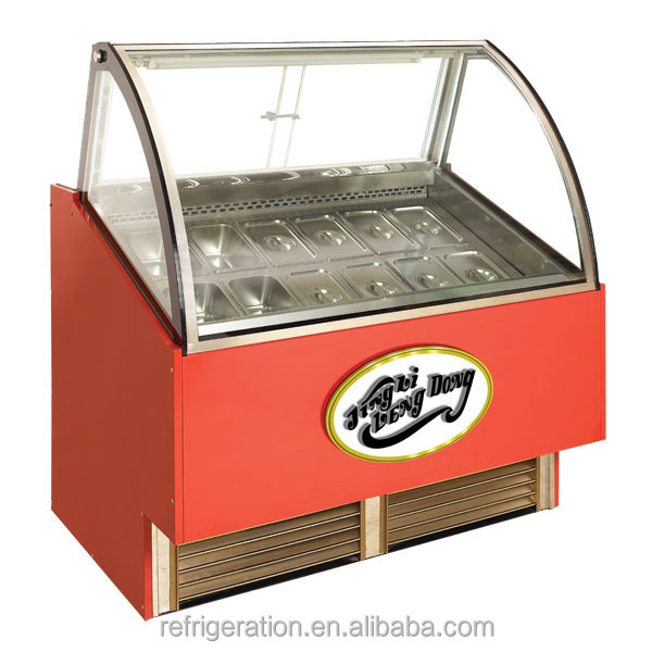 D8GNWF Commercial Ice Cream display freezer/Ice Cream Display Cabinet