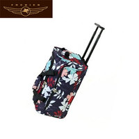 Classic flowers travel trolley bag polo