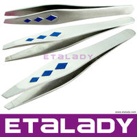 Scissor Style Cute Eyebrows Tweezers Laboratory Eyebrow Plucking Eyelash Extension Tweezers