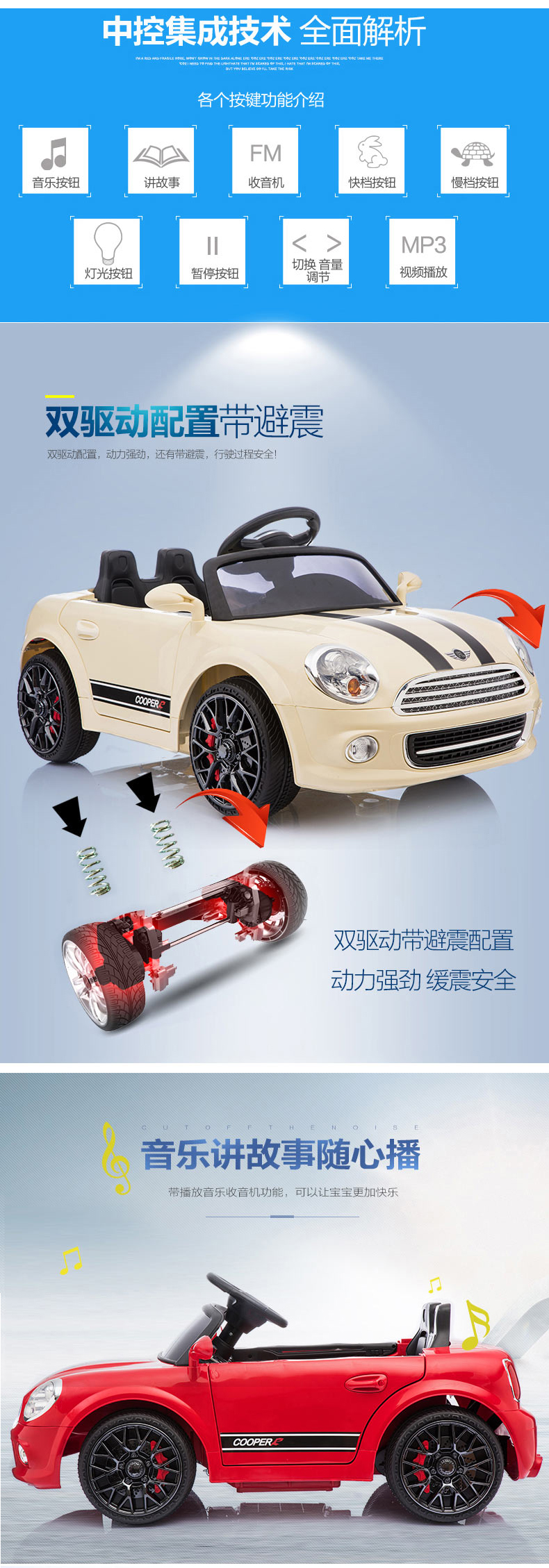 Kids Rechargeable Cheap Children Ride On Battery Powered Mini Toy Car With Remote Control