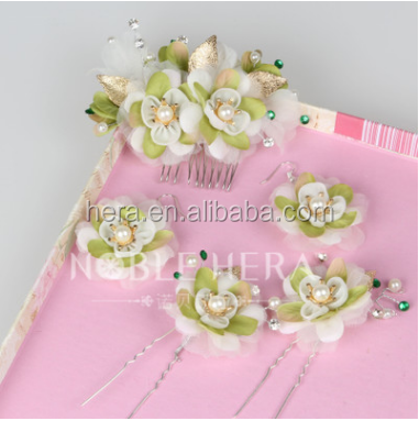 Suppliers Girls Hair Accessories Bridal Craft Flower Tiara For Wedding