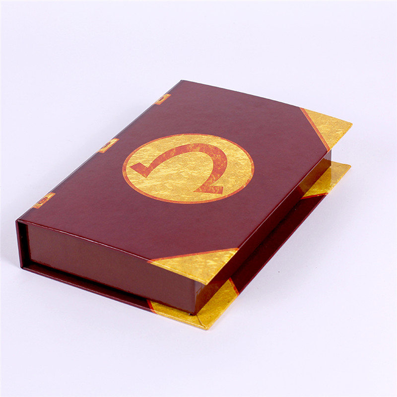Custom printed book shaped candy paper box