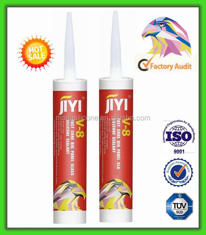 High modulus, room temperature fast curing acetic acid acetoxy silicone sealant