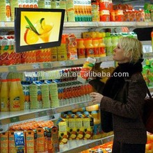 7 inch 800*480 200nits indoor lcd advertising screen for supermarket shelf, shopping shelf place free ads