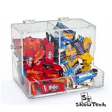 Bulk acrylic candystackable container bins wholesale
