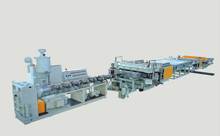 PP PE PC corrugated sheet Extrusion Machine