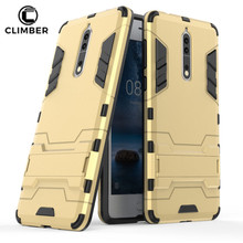 Rugged Hybrid Shockproof Iron PC TPU Armor Kickstand Cell Phone Case Cover For Nokia 2 3 5 6 8 9 Cases
