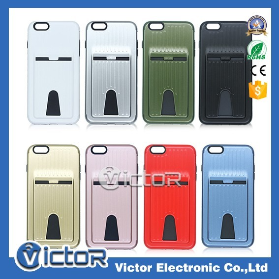 China wholesaler 2in1 tpu pc combo card case for iPhone 6 Plus