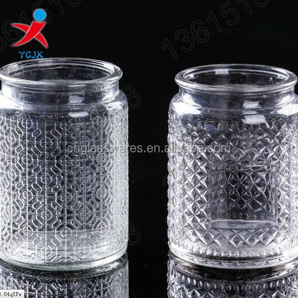 designs on woodwork glass candlestick manufacturers selling small paragraph/candle jar jar/bottle/gl