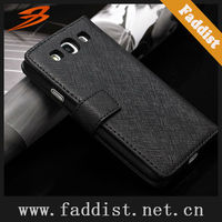 mobile phone case for Galaxy s3 i9300 real leather wallet case taiga pattern