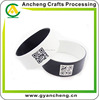 Two colors qr code bracelt , 1 inch inside and outside different color bracelet with qr code printing