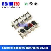 4 port connector, rj45 plastic connector rj45 modular jack ethernet wifi adapter rj45, 4 port hub rj45