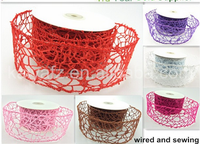 100% Polyester Fabric Mesh for Bouquet Wrap in China