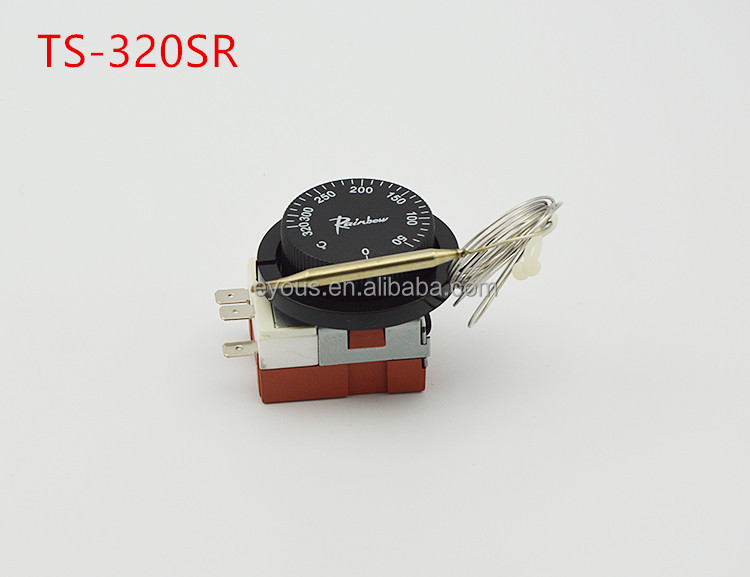 50 -320 degree Celsius Korea Rainbow thermostat TS-320S <strong>R</strong>,3-feet tempering switch,adjustable temperature controller