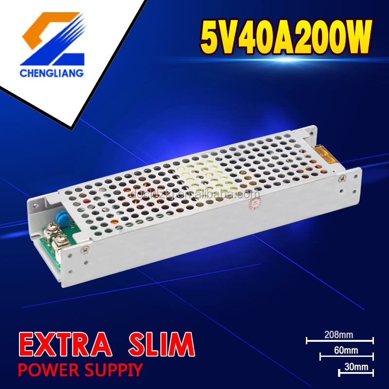 New style 200w 5v single output Led driver for led lighting with Synchronous rectification