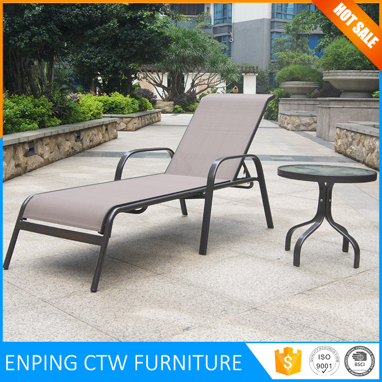 Cheap Aluminum frame textileen fabric materials outdoor lounge chair