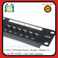 UTP CAT6 24 Port RJ45 Patch Panel