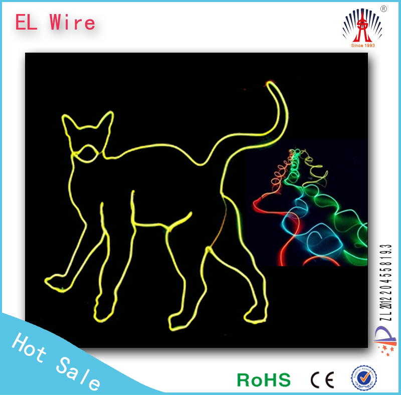 flexible el wire ac 110v/el wire inverter/el glowing wire factory