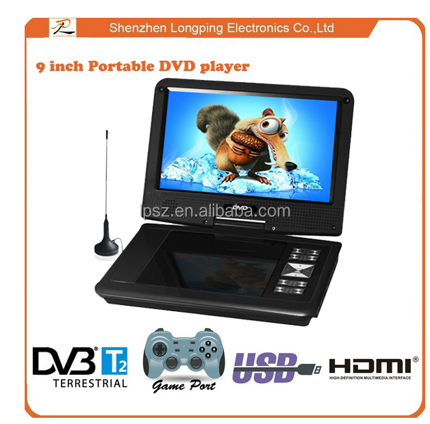 2016 best seller portable dvd player with tv fm usb