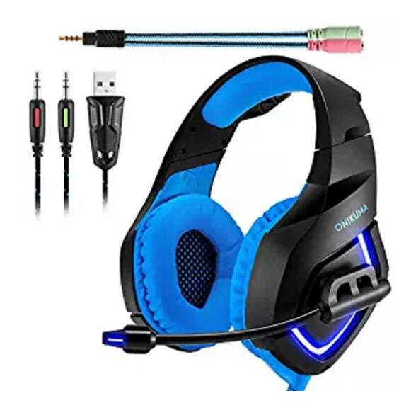 Noise Isolation Bass PC Gaming Headphones with Microphone for PS4 Laptop Computer Smart Phone Xbox one