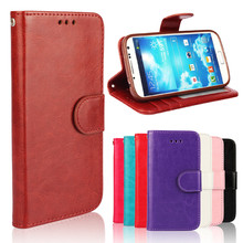 2015 custom OEM Genuine leather Cell phone Flip case for galaxy i9500