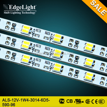 Edgelight SMD 3014 , DC 12V 6500k led strip lights , aluminum PCB board , warm/cool white , CE Rohs UL