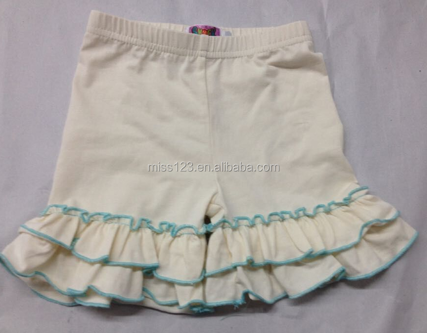 wholesale baby girls cotton shorts!high quality double ruffles shorts for children
