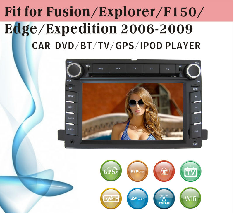 car dvd vcd cd mp3 mp4 player fit for Ford Fusion explorer F150 2006 - 2009 with radio bluetooth gps tv